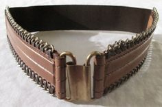Leather Stretch Belt Side Chain by OffTheHipBelts on Etsy, $39.00