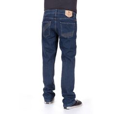 Functional five pocket jeans - cotton and spandex - stone washed