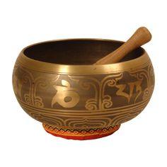 "Singing Bowl, Decorated, 7 3/4"", Blem"