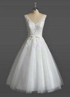 Kleider - Kurz Maßgeschneidert Spitze Standesamt Brautkleid - ein Designerstück von YYYang bei DaWanda