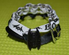 Halloween Bat Pop Top Bracelet by ADRCrafts on Etsy, $8.00