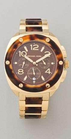 Michael Kors Tortoise Watch.