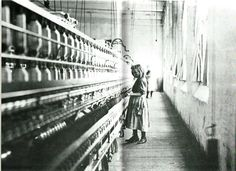 Lewis W. Hine  (1874-1940)  Girl Worker in a Carolina Cotton Mill. Mr. Hines photographs such as this helped bring about the child labor laws.