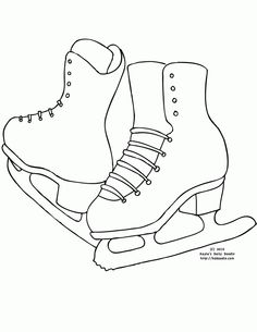 Ice skating coloring page