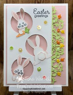 Best Bunny Easter ⋆ Tina Wardell~Stampin' Up! Independent Demonstrator - Jessica Metzinger - Best Bunny Easter ⋆ Tina Wardell~Stampin' Up! Independent Demonstrator Best Bunny Easter ⋆ Tina Wardell~Stampin' Up! Easter Crafts For Kids, Fall Crafts, Bunny Crafts, Easter Projects, Easter Ideas, Card Kit, Cool Cards, Easter Bunny, Bunny Bunny
