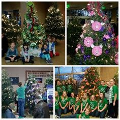 We love seeing all the school and youth groups arriving to decorate our Fantastic Forest! This year's theme is colors, so each tree has animal ornaments based on a color theme. Check the trees out starting Friday!