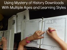 The Mystery of History Notebooking Pages- I use these for EVERY SINGLE LESSON