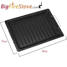 Barbecue Grill Plate Barbeque BBQ Table Indoor Iron Plate Non-Stick Pizz Baking