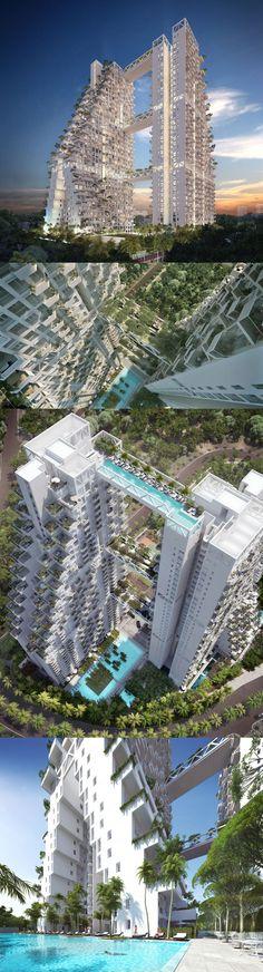 Dá uma olhadinha nesse Condomínio que será construído em Cingapura