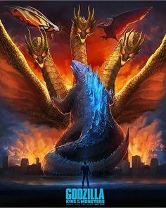Artists from around the world are invited to create static artwork for Godzilla: King of the Monsters. Godzilla Toys, All Godzilla Monsters, Cool Monsters, Godzilla Costume, Godzilla Birthday Party, Godzilla Tattoo, Rukia Bleach, Godzilla Wallpaper, Film Serie