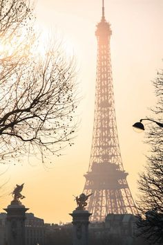 Golden Hour on the Seine by Rebecca Plotnick #paris #photo #eiffel