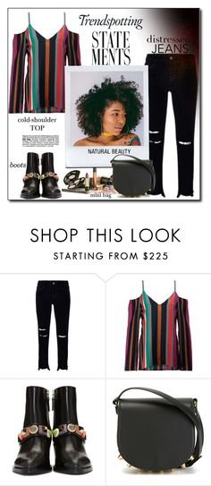 """""""Trend - spotting Statements...."""" by fashionlibra84 ❤ liked on Polyvore featuring J Brand, Tanya Taylor, Fendi, Melissa and Alexander Wang"""