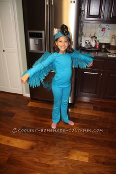 Coolest Blue Macaw (Jewel) Costume from the Movie Rio... This website is the Pinterest of costumes