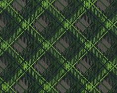 Edler Jacquard-Stoff mit Wolle MIRABEL mit diagonalem Karo-Muster, neongrün-steingrau