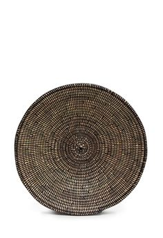 Hand-Woven Straw Bowl