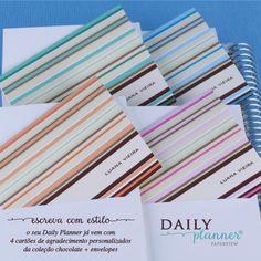 O Daily Planner vem com lindos Cartões da Coleção Chocolate. Compre online: paperview.com.br #meudailyplanner