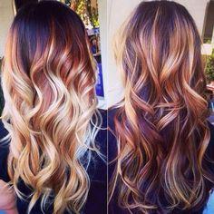 Rood & blonde highlights