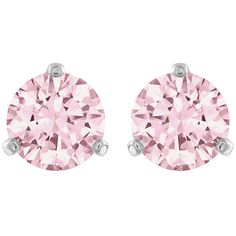 Swarovski Solitaire Pierced Earrings ($69) ❤ liked on Polyvore featuring jewelry, earrings, accessories, brincos, pink, swarovski jewelry, sparkle jewelry, swarovski earrings, sparkly earrings and pink earrings