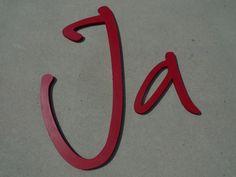 """Buchstaben & Schriftzüge - Reservierung """"milla"""" Rohlinge DIY-Buchstaben - ein Designerstück von abc_ABC bei DaWanda"""