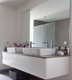 bathroom mirror ideas mirrors uk Modern Bathroom Mirrors, Bathroom Mirror Design, Blue Bathroom Decor, Fitted Bathroom, Best Bathroom Vanities, Beautiful Bathrooms, Bathroom Interior, Small Bathroom, Bathrooms