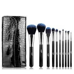 iecool 10pcs Bluelover Gorgeous Makeup Brush Set Beauty Tools >>> Find out more about the great makeup products at the image link.