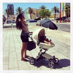 Here are Ortal & baby Ori enjoying a stroll with their xari in Israel!