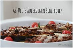 auberginen-schiffchen-1 Risotto, Ethnic Recipes, Food, Food Recipes, Meal, Essen, Hoods, Meals, Eten