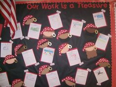 "Pirate Themed Classroom - Ideas & Printable Classroom Decorations Walt Disney quote, """"There is more treasure in books than in all the pirate's loot on Treasure Island. School Displays, Classroom Displays, Classroom Themes, Classroom Organization, Library Displays, Classroom Design, Art Classroom, Pirate Day, Pirate Theme"