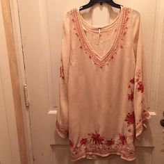 Free People long sleeve dress open to offers!!  amazing shape! dress flows along with the sleeves  size medium Free People Dresses Long Sleeve