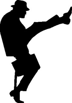 Ministry of Silly Walks stencil template