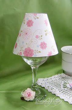 Wine Glass,Lamp Shade, Add Tea Light