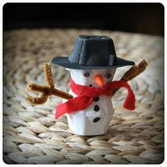 Egg Carton Snowman