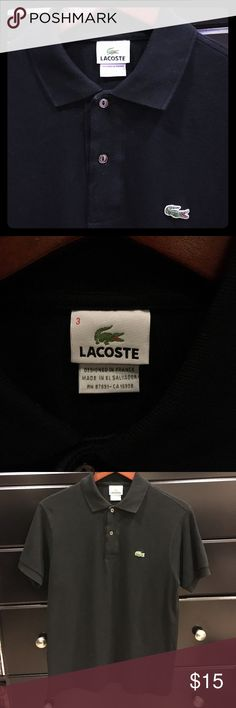 Men's Lacoste Black Polo Short sleeve, black polo shirt. Lacoste Shirts Polos