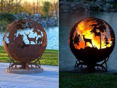 fabriquer un barbecue artistique en forme de sphère arborant un paysage forestier