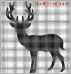 Scraps of Five.: Craft: Deer Cross Stitch Pattern