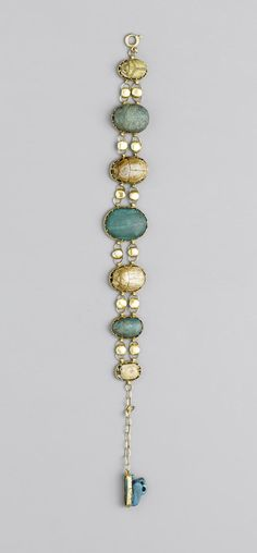 An Egyptian scarab bracelet. Middle Kingdom - Late Period and later