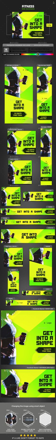 Fitness Banners - Banners & Ads Web Elements Download here : https://graphicriver.net/item/fitness-banners/20510718?s_rank=29&ref=Al-fatih #animated banner #banner pack #banner set #business #flat design #gif banner  #adwords #marketing #multi purpose #promotions #sales #template #web banner #ads #banner template  #ads template #premium design