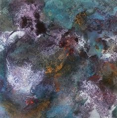 """opera astratta, titolo """"Tra i glicini"""" sabbia, colori acrilici"""
