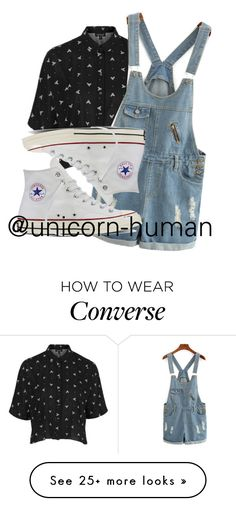 """""""Untitled #1847"""" by unicorn-human on Polyvore featuring Topshop and Converse"""