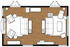A list of small medium and large living room size - Living room layout tool ...