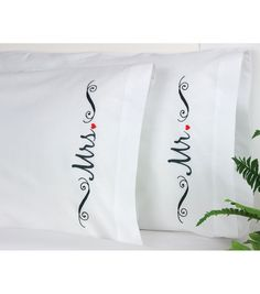 "Mr and Mrs Pillowcase Pair Stamped Embroidery-20""X30"""