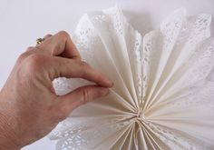 paper doily wall flower. Fail! Jan 2012. this did not turn out how the picture shows. Maybe I did something wrong. (?)