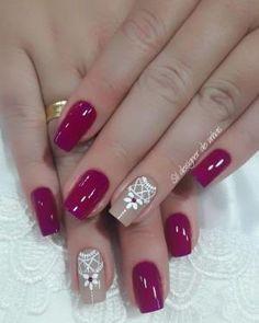 Ideas for nails art sencillo flores Manicure And Pedicure, Gel Nails, Acrylic Nails, Nail Polish, Unicorn Nails, Gel Nail Designs, Nails Design, Beautiful Nail Art, Love Nails