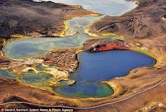 El área Veiovotn de Islandia, de singular colorido