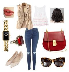 A fashion look from June 2015 featuring white tank, crop vest and skinny jeans. Browse and shop related looks. Vanessa Bruno, Karen Walker, Alexander Mcqueen, Topshop, Chanel, Shoe Bag, Polyvore, Stuff To Buy, Shopping