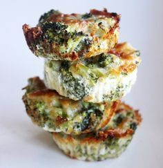 Pin for Later: 14 Healthy Broccoli Recipes That Cover Breakfast, Lunch, and Dinner Cheesy Broccoli Bites Get the recipe: cheesy broccoli bites