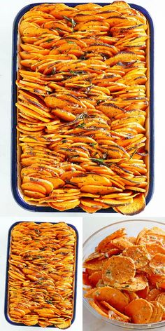 Crispy Baked Sweet Potatoes - thinly sliced and baked to crispy and buttery goodness, just like sweet potato chips. The best baked sweet pot. Best Baked Sweet Potato, Savory Sweet Potato Recipes, Baked Sweet Potato Casserole, Good Sweet Potato Recipe, Cooking Sweet Potatoes, Roasted Sweet Potatoes, Veggie Recipes, Cooking Recipes, Fall Recipes