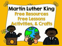 LMN Tree: Martin Luther King: Free Resources, Free Lessons, Activities, Crafts Ideas, and More