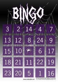 Printable Halloween bingo card