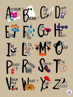 I love this! Would be great in a classroom. Cute abécédaire!